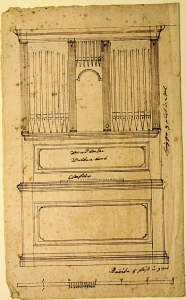 organ case sketch